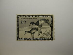 U.S. Stamp Scott #RW21 US Department of Interior $2 Migratory Bird Hunting St...
