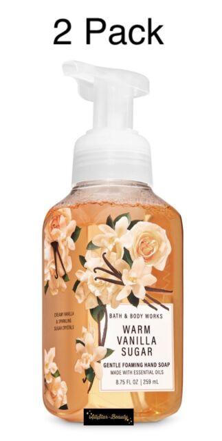 Bath & Body Works WARM VANILLA SUGAR Gentle Foaming Hand Soap 8.75 oz-2 Pack