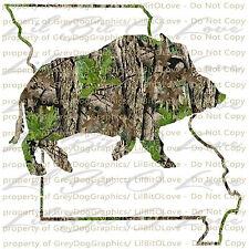 Camo Hog Boar Missouri State Outline Hunter Vinyl Decal Sticker Hunting Prairie