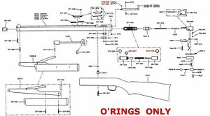 Benjamin Sheridan 397 392 PA  O-ring Seal Kit
