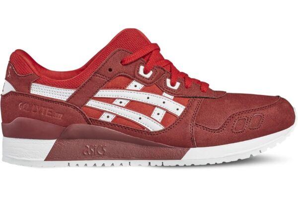 Details zu Asics Tiger GEL LYTE III Sneaker Herren Freizeitschuhe rot weiß H7K4Y2301