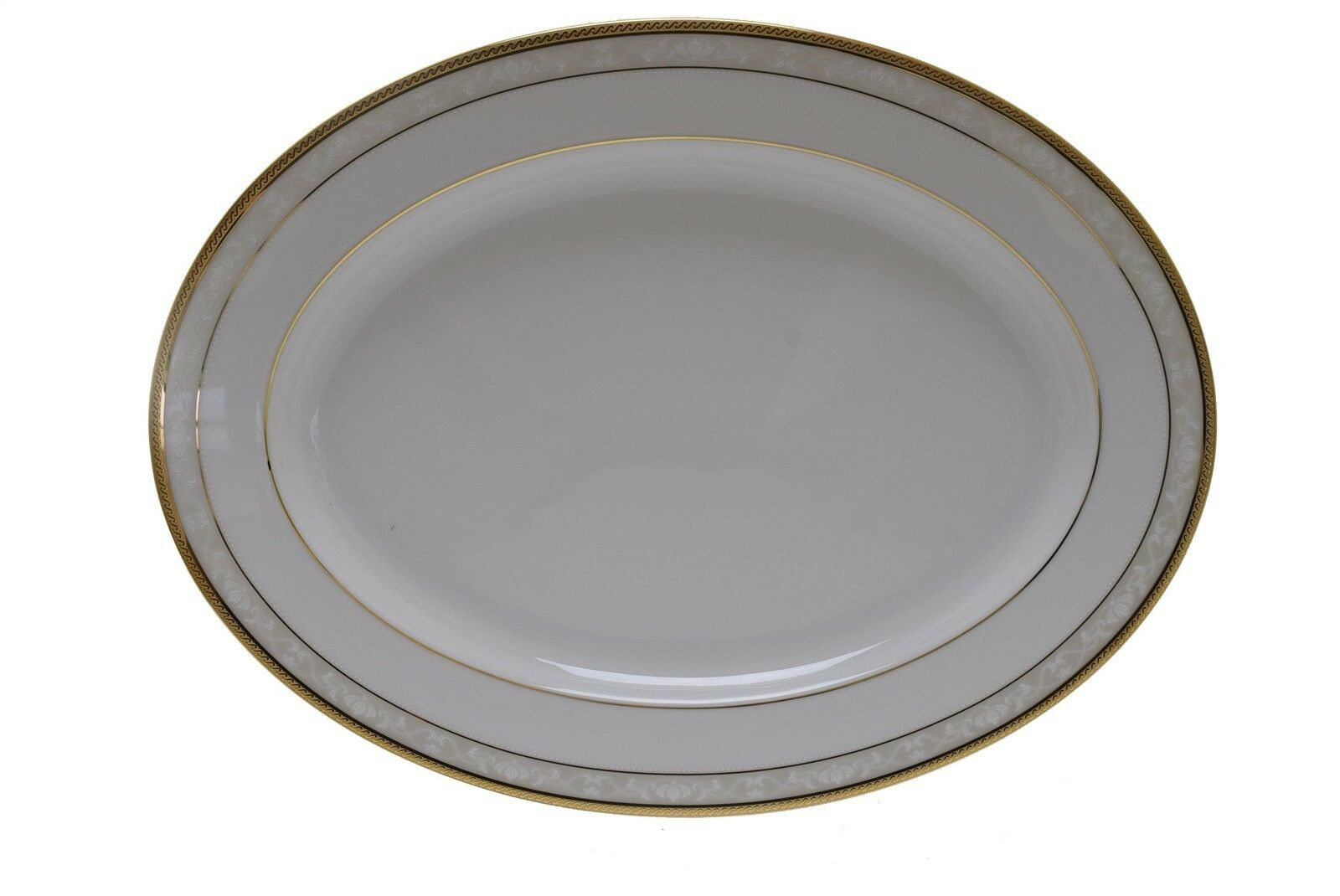 Noritake 4335 Hampshire Gold 13 5 8  x 10 1 4  Platter - New