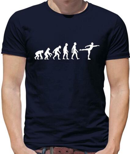 Évolution De L/'Homme Patin à Glace T-shirt homme-Patin à Glace-LNH-SPORT-Hobbie