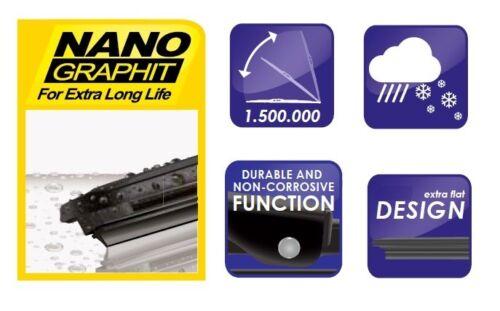 """Ford Focus Estate 2004-2008 Balais d/'essuie-glace Alca super plat 26/""""17/""""SL Arrière 10/""""C"""