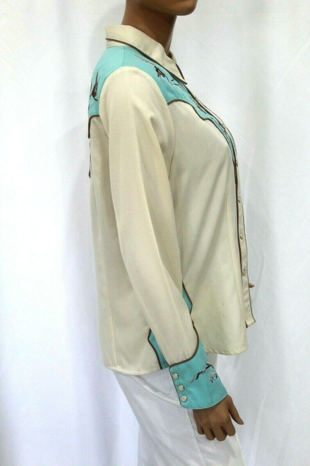 *VINTAGE* Scully~Women's Pearl Snap Western Shirt… - image 6
