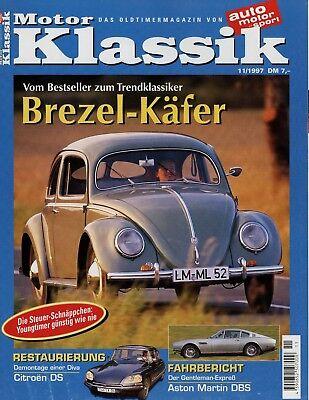 Diskret Motor Klassik 11/97 1997 914/6 Gt Dbs Vantage Citroën Ds 21 Brezel Käfer Astura Bücher Auto & Verkehr