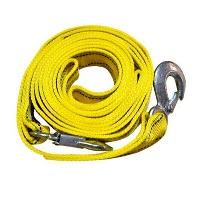 Cuerda para Remolque De Arrastre// Correa de Arrastre para Remolque// Cable De Remolque De Acero para Remolques 3metros con Dos Ganchos a Ambos Extremos Resistencia De hasta 3,5Toneladas
