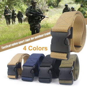 Quick-Release-Army-Belt-Colour-Option-Military-Trouser-Tactical-Canvas-Webbing