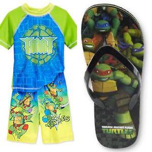 cbaf418a0f Image is loading Teenage-Mutant-Ninja-Turtles-Rashguard-and-Swim-Trunk-