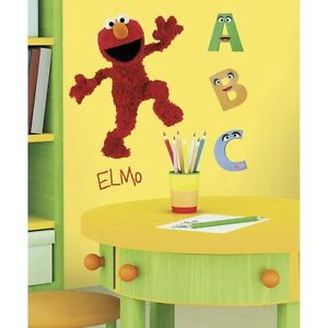 Details About Elmo Wall Decals Mural New Large Sesame Street Room Stickers Baby Nursery Decor