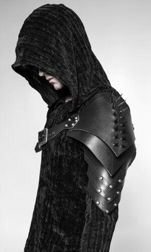 Harnais épaulette armure gothique steampunk bondage cuir spike PunkRave homme
