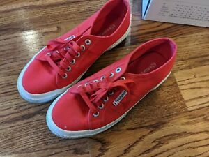 Women-039-s-Superga-2750-Cotu-Classic-Red-Sneakers-Size-8-1-2-Women-039-s