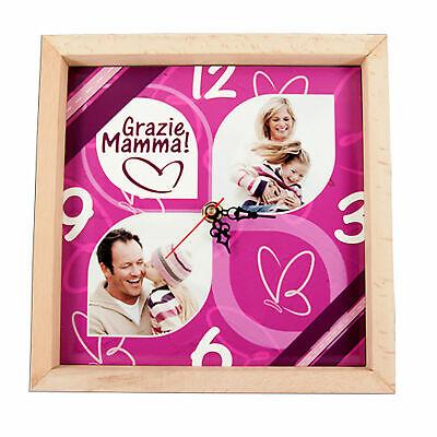 Accurato Orologio Da Muro Personalizzato Stampa Personalizzata Legno Cornice Mamma Tecnologie Sofisticate