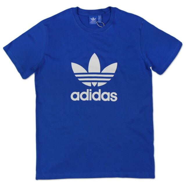 c2a1b276 Adidas Originals Adi Trefoil Tee Men's Leisure Iconic T-Shirt Bluebird