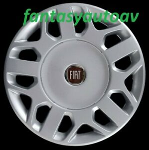 Fiat-Multipla-Set-4-Borchie-Coppe-Ruota-Copricerchi-Copponi-15-034-1258LR