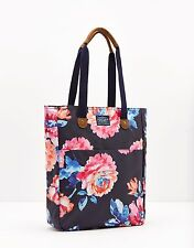 Joules Homerton Handbag in Navy Rose, Floral Coated Cotton Canvas