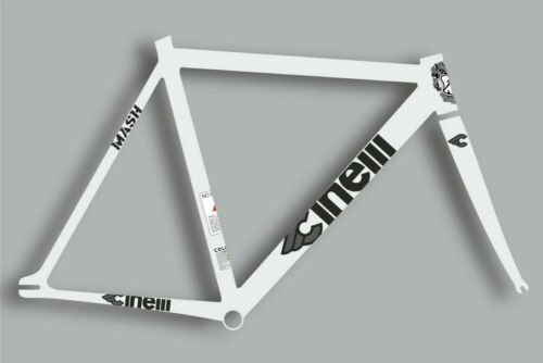 CINELLI MASH Bicycle Bike Frame Decal Sticker Set Vinyl Sheet Black