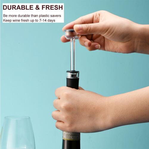 Reusable Wine Saver Stoppers Air Pump Vacuum Stopper Wine Bottle Sealer
