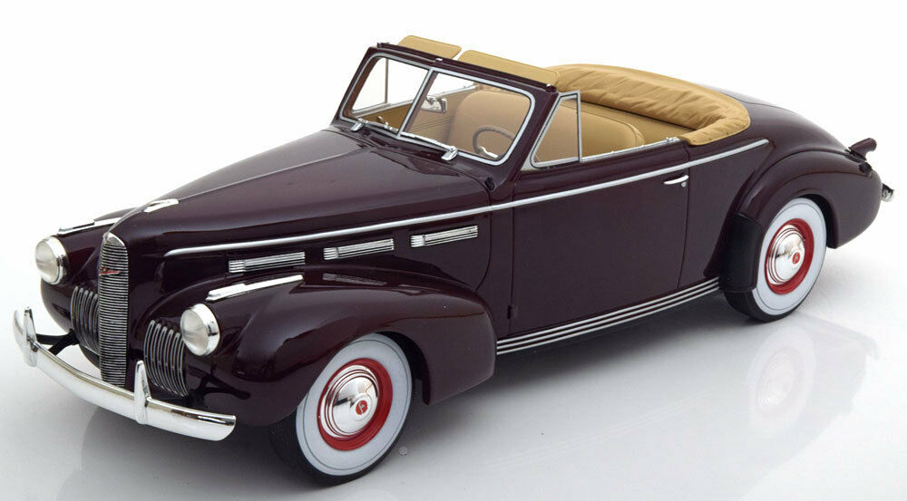 1940 LaSalle Series 50 Converible Coupe Dark rouge by  BoS Models LE of 504 1 18  nous fournissons le meilleur