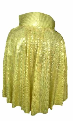 Adulto Rock N Roll 50s 60s GOLD il King Cape Con Lustrini Costume UK