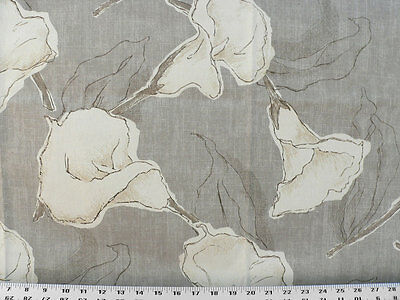 Drapery Upholstery Fabric 100/% Cotton Duck Abstract Paisley Gray