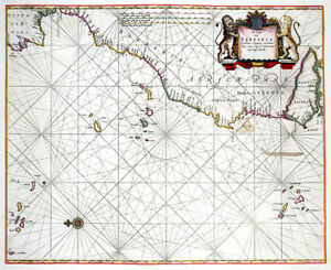Reproduction carte ancienne - Maroc en 1676 (Morocco)