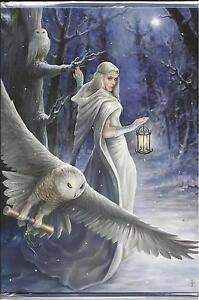 "MIDNIGHT MESSENGER GREETING CARD BY ANNE STOKES- ""YULETIDE GREETINGS"""