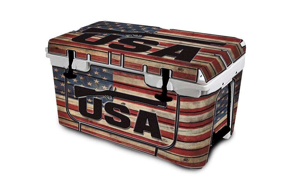 USATuff Cooler Wrap Decal 'Fits New Mold' RTIC 45QT FULL USA LS