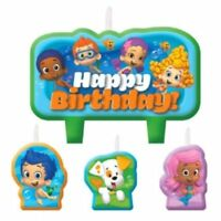 Bubble Guppies 4 Pc Candle Set Cake Toppers Birthday Party