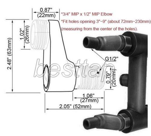 2 Pcs Polished Chrome Claw Foot Bathtub Faucet Adjustable Swing Arms sba129