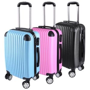 20 Cabin Luggage Suitcase Code Lock Hard Shell Travel Case Carry On