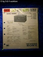 Sony Service Manual STR A37 / D309 / D359 Receiver  (#1413)