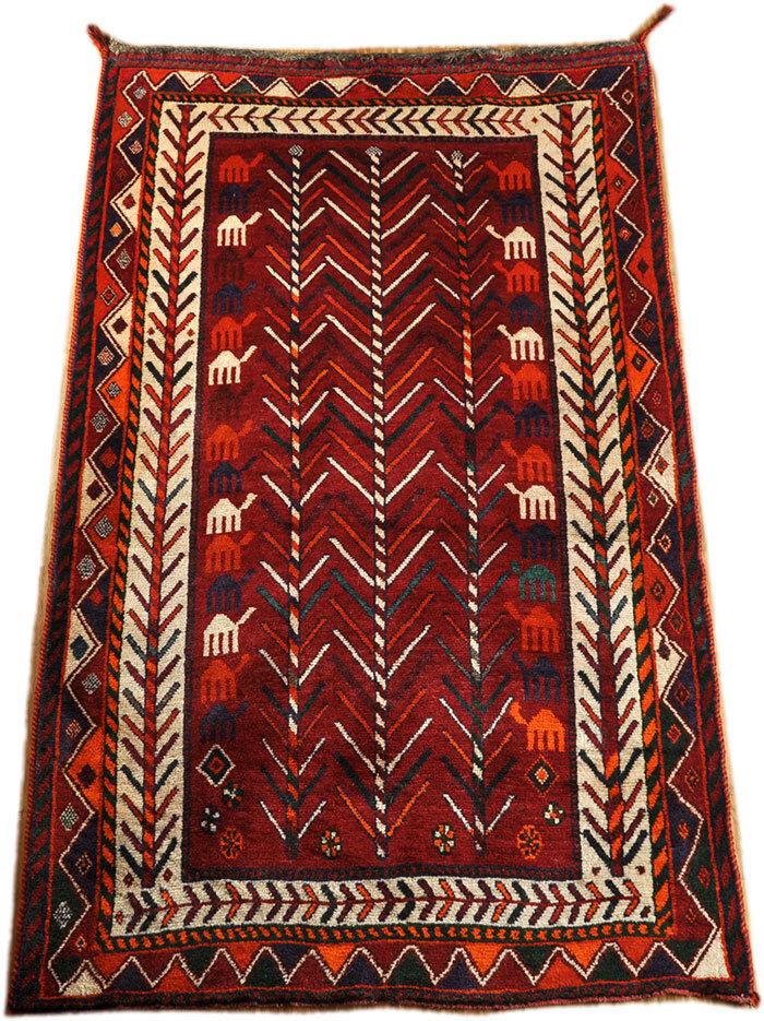 Original Sur Gashghai Gabbeh 215 X130 cm alfombra peluda nómadas