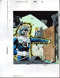 Original-1992-Fantastic-Four-362-Marvel-comic-book-color-guide-art-splash-page-1