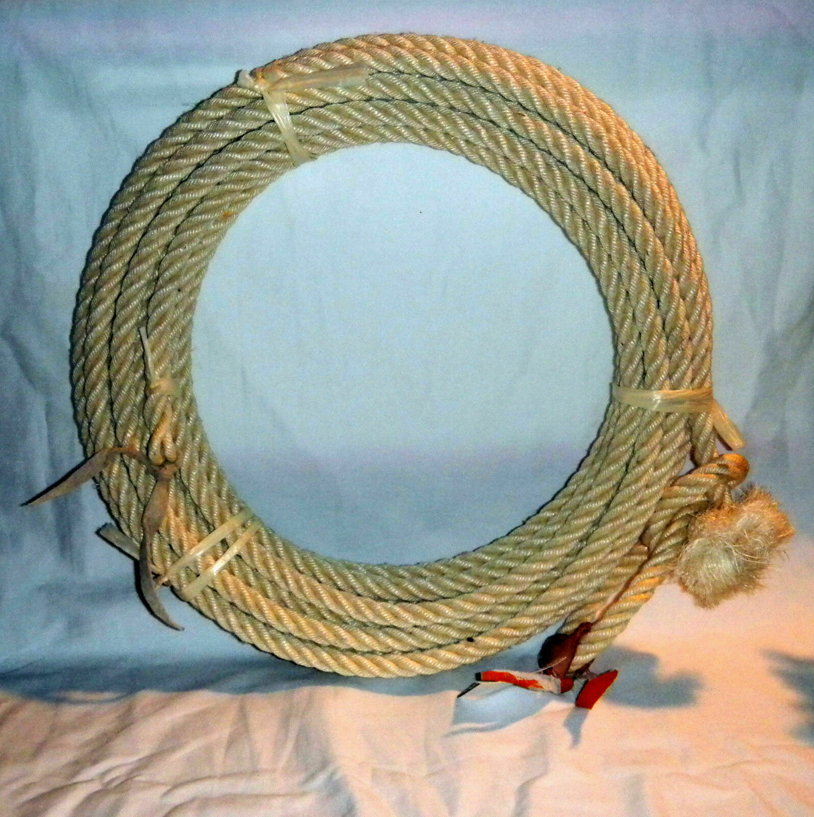 40 Ft Western astaeo Rope Lasso  Lariat Riata Agave Maguey Straw From Mexico