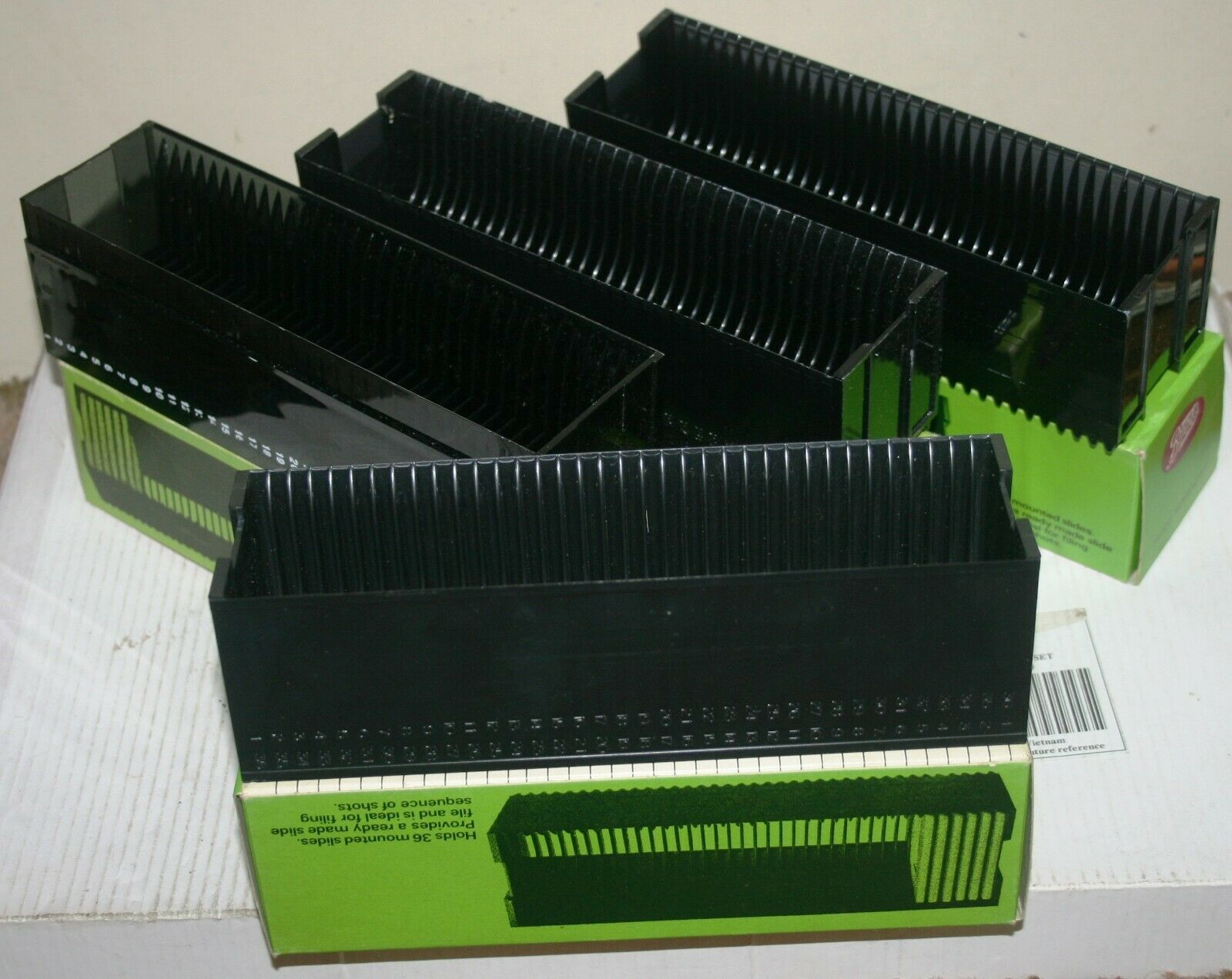 4 Various Boots / Gnome 35mm Slide Transparency Magazine - Each Holds 36 Slides