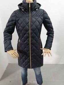 Giubbino-MICHAEL-KORS-Donna-Taglia-Size-S-Jacket-Woman-Piumino-Nero-e-Oro-7622