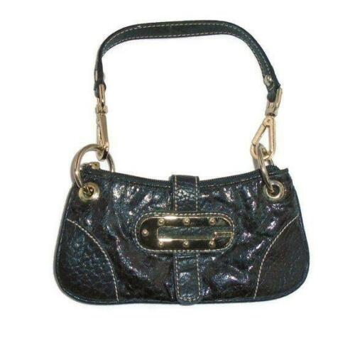 Guess Mini Bag Wristlet Purse Black Faux Leather