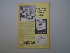 advertising Pubblicità 1958 CUCINA ZOPPAS MOD. ML 4/A