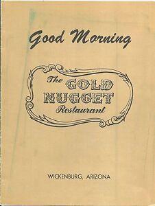 Breakfast Menu The Gold Nugget Restaurant Wickenburg Az