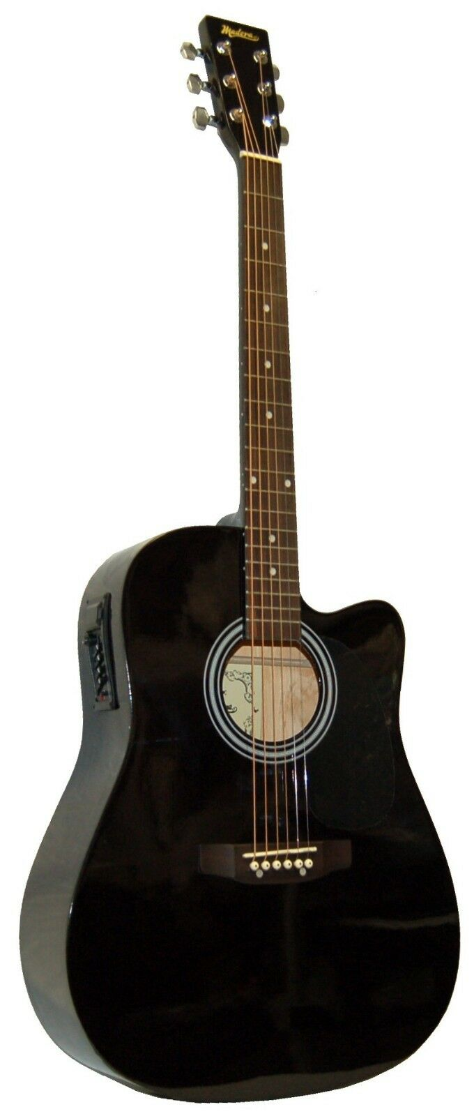NEW MADERA FULL Größe schwarz ACOUSTIC-ELECTRIC CUTAWAY GUITAR