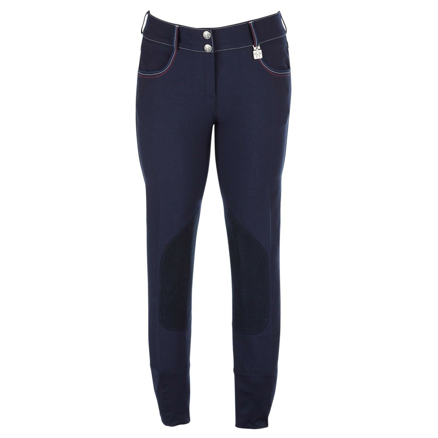 Huntley Equestrian Wouomo Navy with rosso, bianca, e blu Seam Breeches
