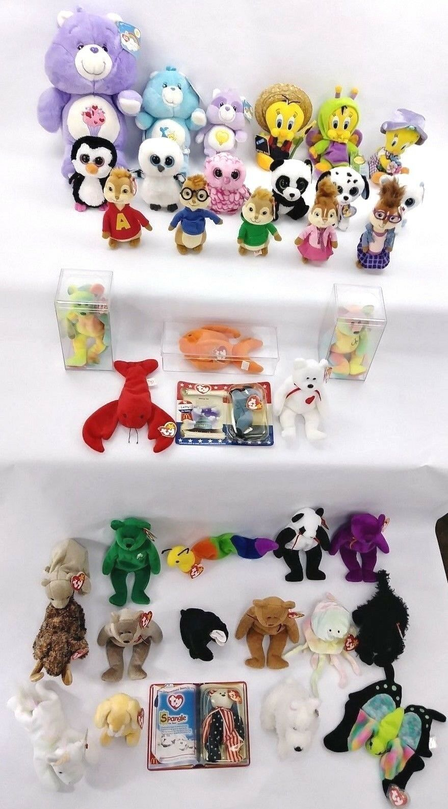 TY Beanie Baby Collection 1st Gen Tush w  3rd Hang Tag Encased lot w  PVC Garcia