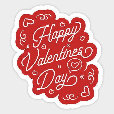 Happy Valentine/'s Day Love Gift Card Vinyl Window Phone Laptop Decal Sticker