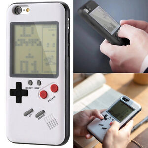 Retro-Tetris-Nintendo-Gameboy-Blokus-Console-Case-Cover-for-iPhone-X-8-Plus-7-B