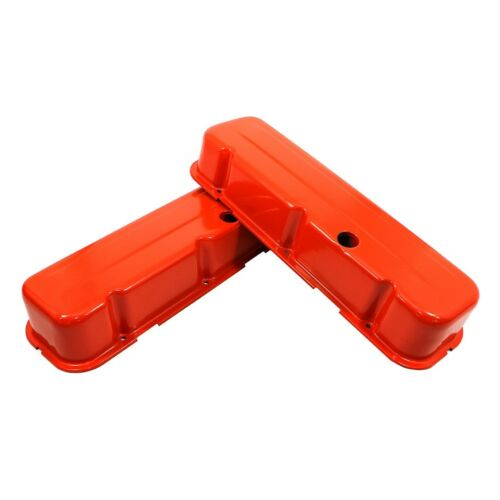 Big Block Chevy 454 BBC 396 402 427 Tall Style Orange Steel Valve Covers