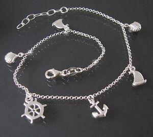 925 Plated Silber Sterne Perlen Fuß Knöchel Armband Doppelkette Fußkettchen