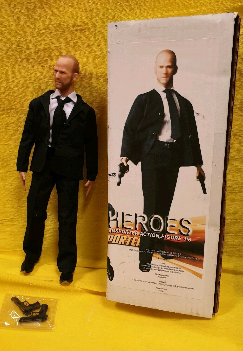 JASON STATHAM TRANSPORTER F MARTIN NEW HEROES HOT ACTION FIGURE TOYS 12 doll 1.6