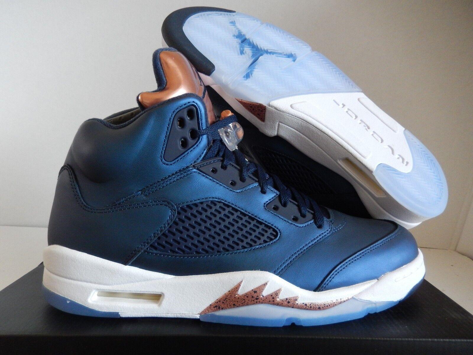 Nike Air Jordan 5 Retro Medalla Obsidiana Azul-Oro Medalla Retro de Bronce [136027-416] ae515e
