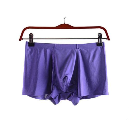 Men/'s Ice soie Cool Boxer Respirant Culotte Sous-vêtements Slips D452